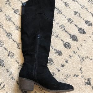 Fergalicious suede over the knee boots